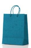 Saco de papel azul Fotografia de Stock