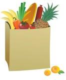 Saco de papel com alimento Imagem de Stock Royalty Free
