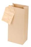 Saco de papel com uma etiqueta Fotos de Stock