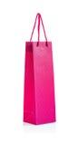 saco de papel cor-de-rosa Fotografia de Stock