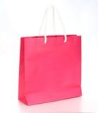 Saco de papel da compra cor-de-rosa Foto de Stock Royalty Free