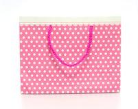 Saco de papel da compra cor-de-rosa Imagens de Stock