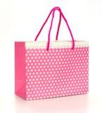 Saco de papel da compra cor-de-rosa Imagem de Stock