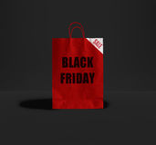 Saco de papel de Black Friday Imagem de Stock Royalty Free