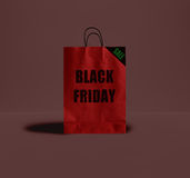 Saco de papel de Black Friday Fotos de Stock Royalty Free
