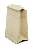 Saco de papel de Brown isolado no fundo branco 3d rendem os cilindros de image Imagem de Stock