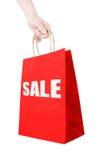 Saco de papel de compra do disconto da terra arrendada Foto de Stock