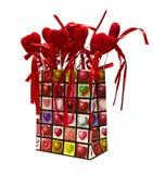 Saco de papel do presente dos Valentim Imagem de Stock