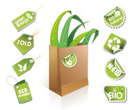 Saco de papel - idéia do eco Imagem de Stock Royalty Free
