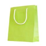 Saco de papel verde Imagem de Stock