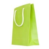 Saco de papel verde Imagens de Stock