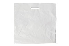 Saco de plástico branco fotografia de stock royalty free