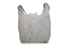 Saco de plástico cinzento Fotos de Stock Royalty Free