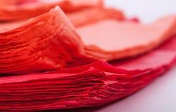 Saco de plástico vermelho Fotos de Stock Royalty Free