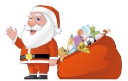 Saco de Santa e de presentes Foto de Stock Royalty Free