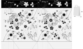 Saco decorativo com ornamento floral ilustração stock