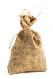 Saco del regalo de la arpillera imagen de archivo libre de regalías