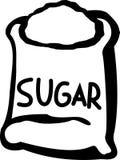 Saco do açúcar Foto de Stock