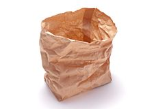 Saco do almoço do papel de Brown Imagens de Stock