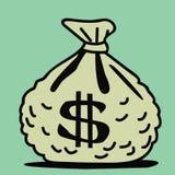 Saco do dinheiro ilustração royalty free