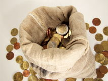 Saco do dinheiro Foto de Stock