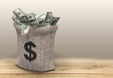 Saco do dinheiro Fotografia de Stock