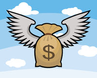 Saco do dinheiro com sinal de dólar Ilustração do Vetor