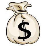 Saco do dinheiro dos E.U. do dinheiro de banco ilustração do vetor