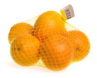 Saco do engranzamento das laranjas fotografia de stock royalty free