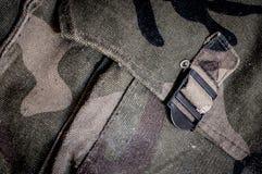 Saco do exército da camuflagem imagens de stock royalty free