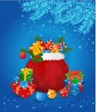 Saco do Natal com presentes Imagens de Stock