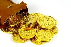 Saco do ouro fotografia de stock royalty free