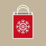 Saco do presente de época natalícia do Natal ilustração royalty free
