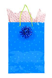 Saco do presente do Natal isolado no branco Imagens de Stock