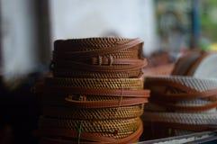 Saco do Rattan de indonésio fotografia de stock