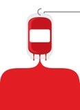 Saco do sangue Saco da transfusão da doação de sangue Sangue derramado fora de b Imagens de Stock