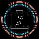 Saco do turista - ícone do curso - ícone da bagagem ilustração do vetor