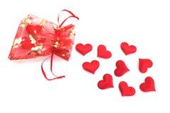 Saco dos corações Imagem de Stock