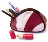 Saco dos cosméticos Fotografia de Stock Royalty Free