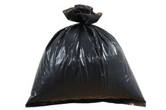 Saco dos desperdícios. Isolado Fotos de Stock Royalty Free