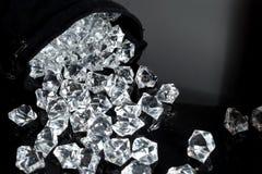 Saco dos diamantes fotografia de stock royalty free