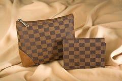Saco e carteira cosméticos Fotos de Stock Royalty Free