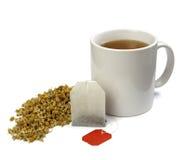 Saco e copo de chá Foto de Stock Royalty Free