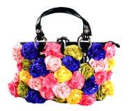 Saco fêmea com flores artificiais Imagens de Stock Royalty Free