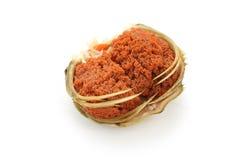 Saco femenino del huevo del cangrejo de la nieve imagen de archivo