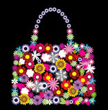 Saco floral Imagem de Stock Royalty Free