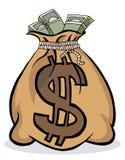 Saco grande do dinheiro Imagem de Stock