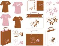 Saco marrom rosado do projeto Imagens de Stock