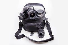 Saco portátil da câmera Imagens de Stock Royalty Free
