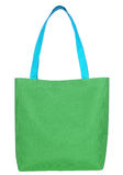Saco verde da tela da compra Foto de Stock